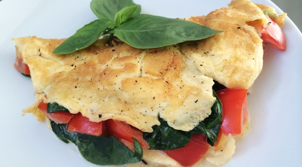 4-Minute French Omelette with Baby Spinach & T...