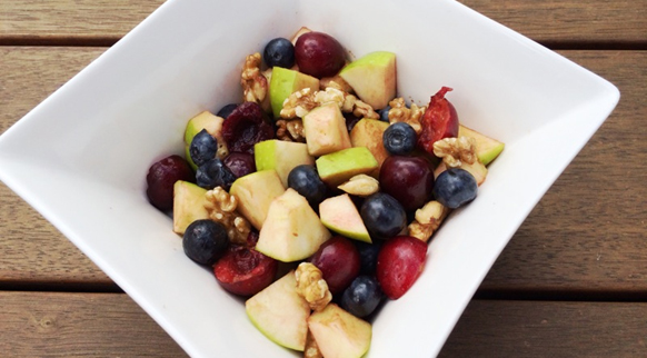 Berry, Cherry & Apple Fruit Salad with Walnuts